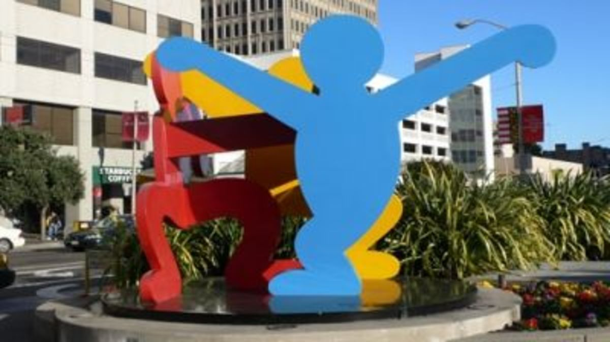 Keith Haring Sculpture at Moscone