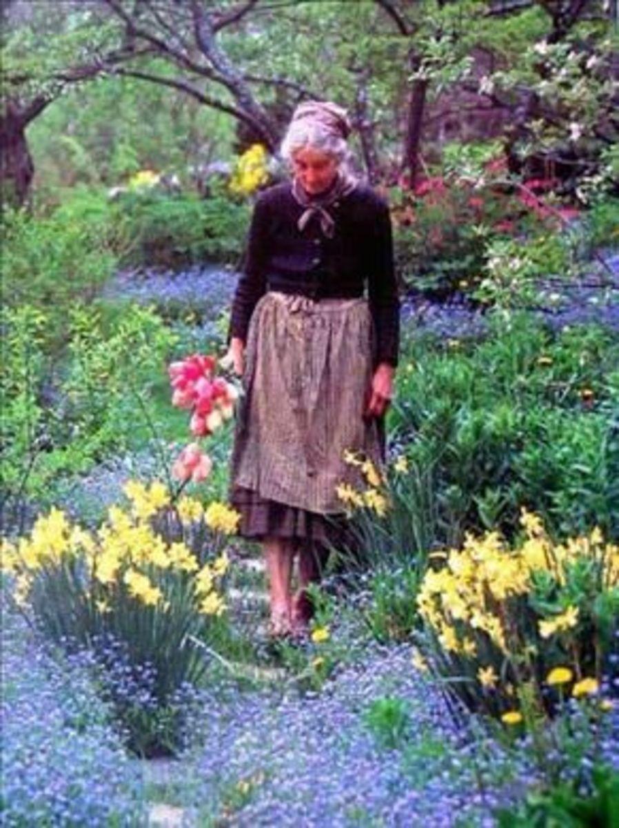 Tasha in Her Garden