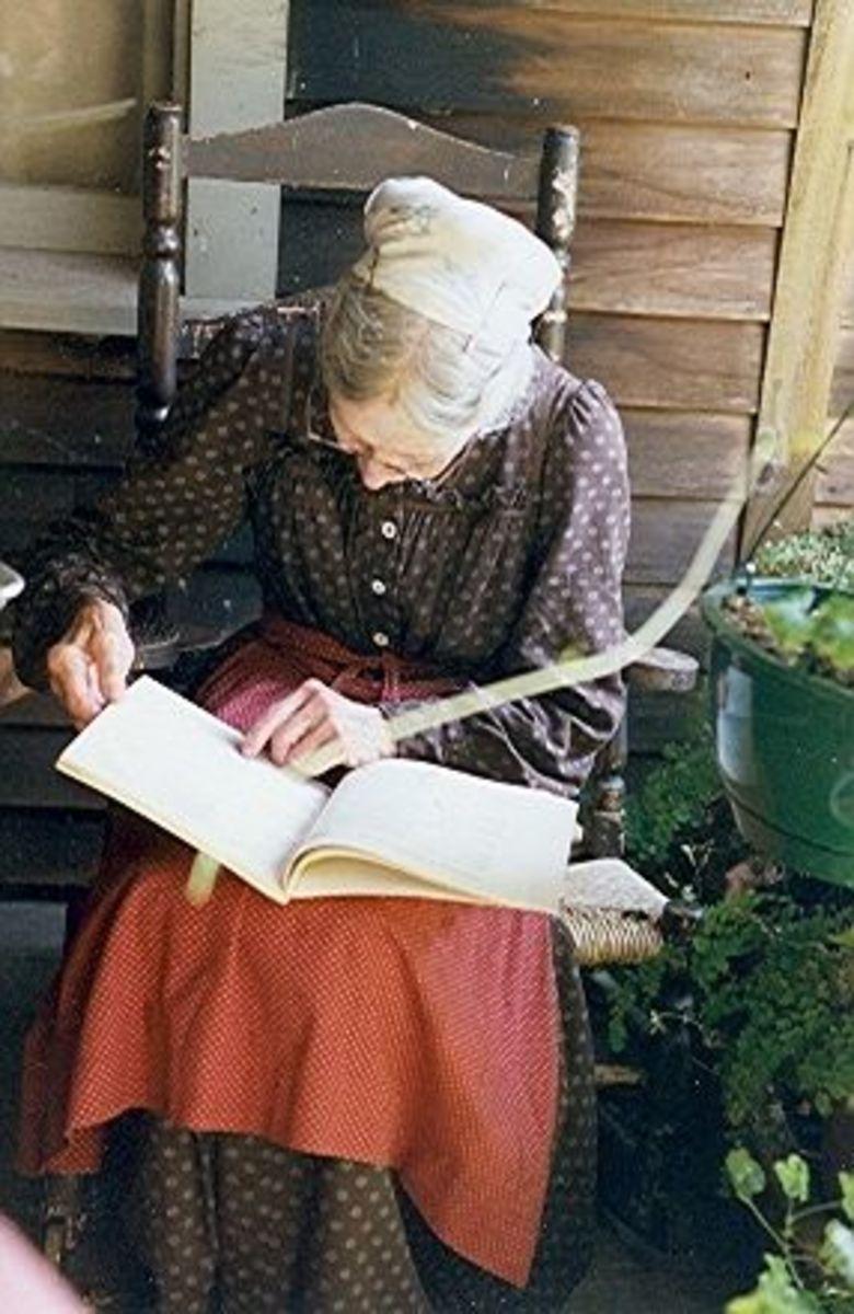 Tasha Reading on Her Porch