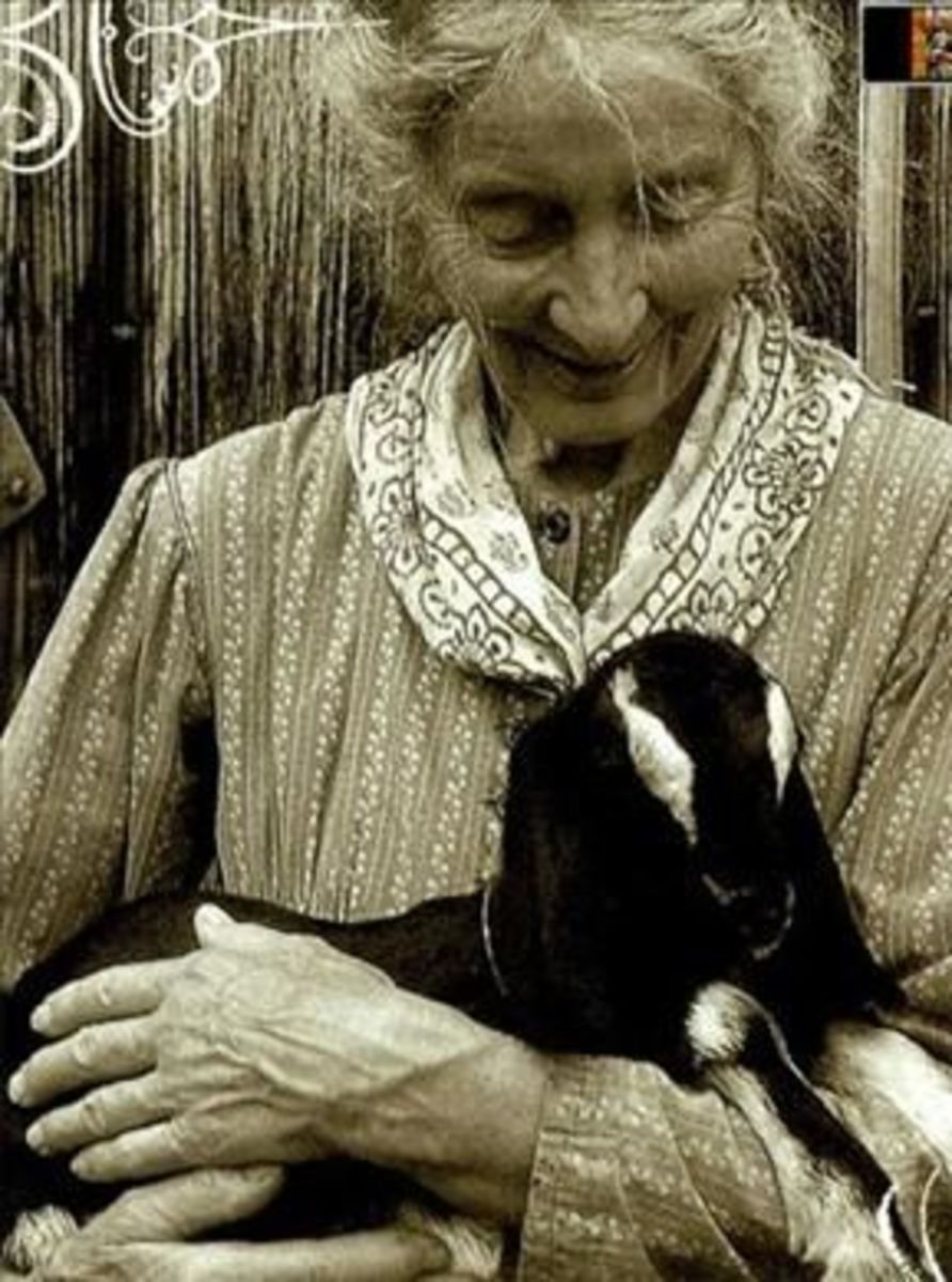 Tasha With One of Her Goats