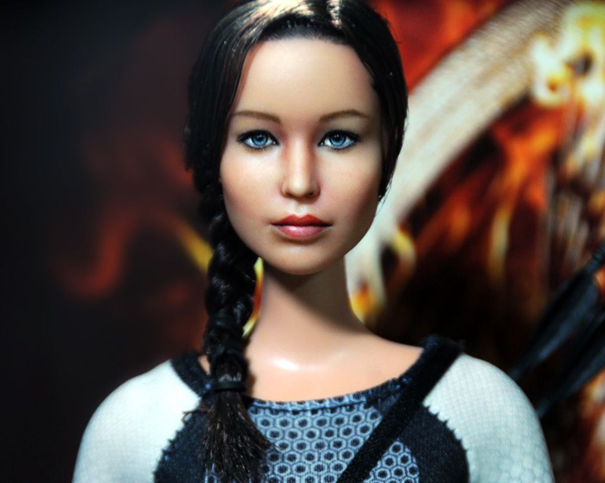 Jennifer Lawrence Hunger Games Celebrity Doll by Noel Cruz