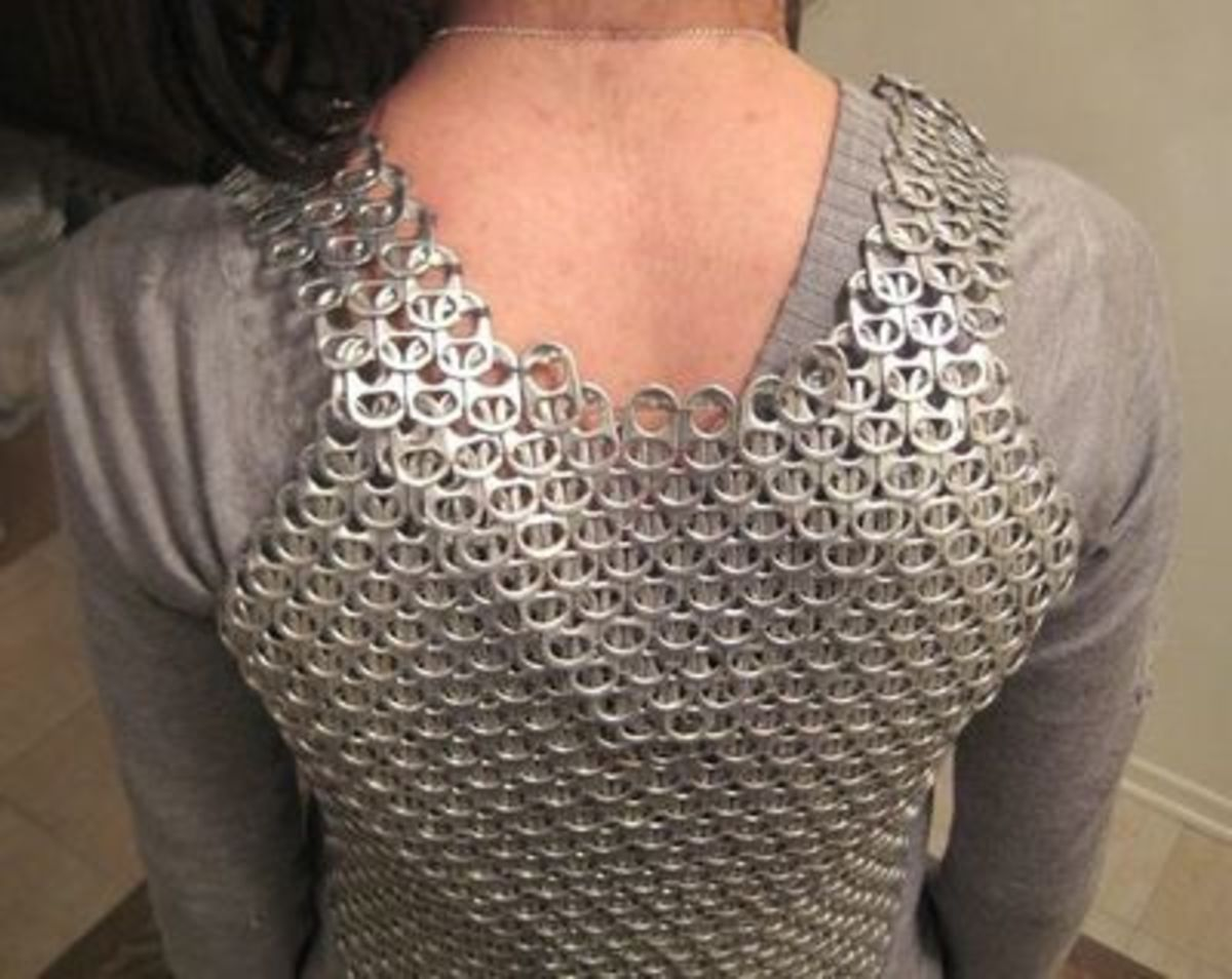 Soda Can Tab Chainmail Armor