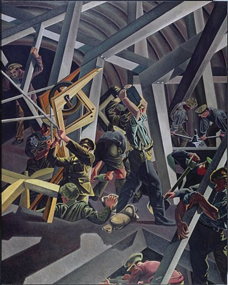 Sappers at Work: A Canadian Tunnelling Company, by Davd Bomberg, 1919