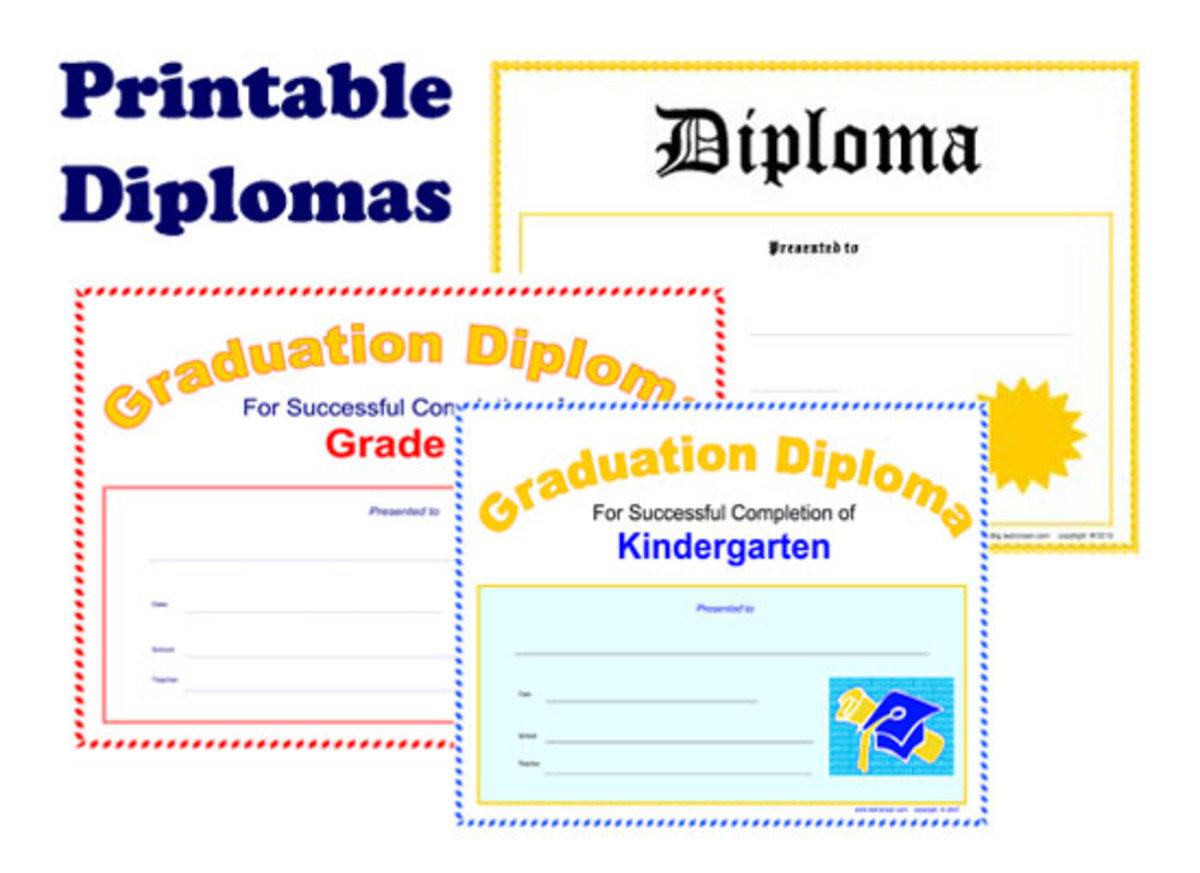 Free printable diploma documents