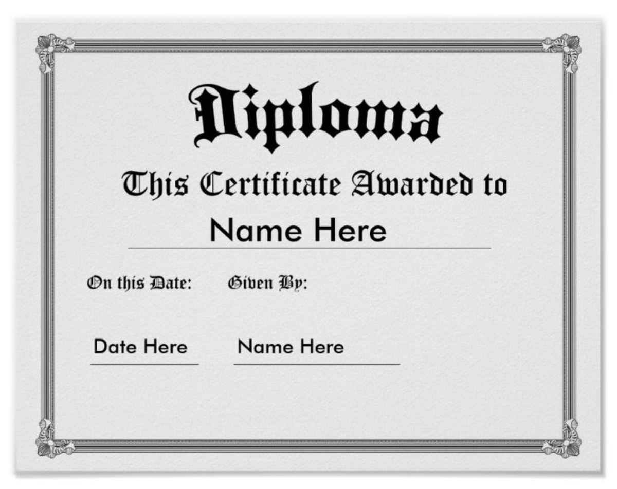 Custom Printed Diploma