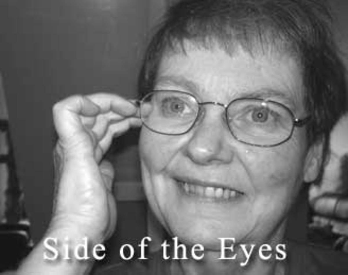 Picture showing side of the eye point used in  meridian tapping