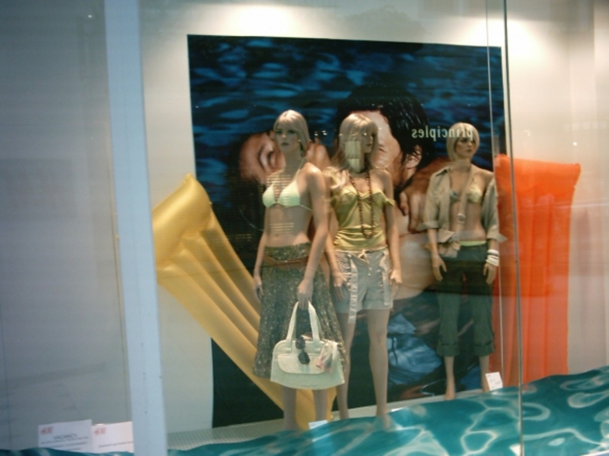 Set the scene for the products in your window displays. Simple props can really sell a look.