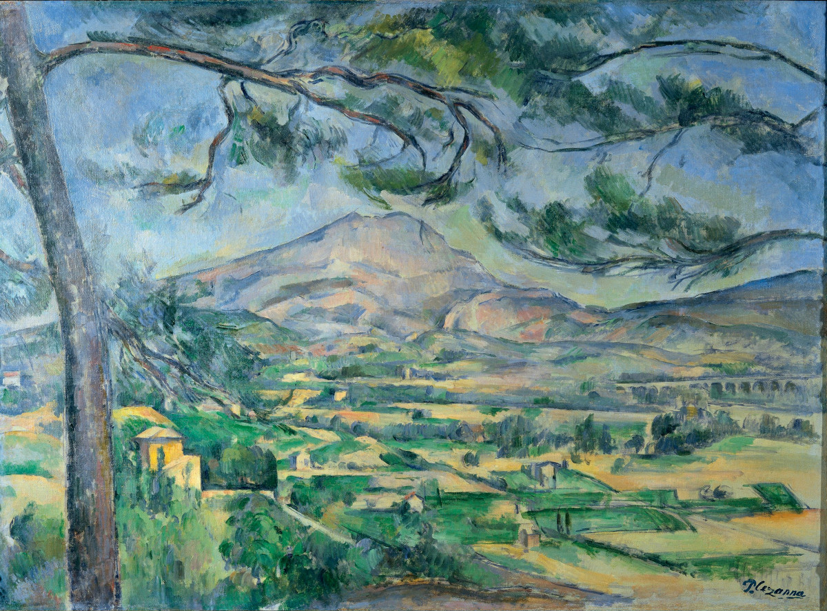 The Sainte-Victoire mountain. This provided a constant source of fascination to the artist. He painted the 1,000 metre mountain for the first time in 1870, and then agai
