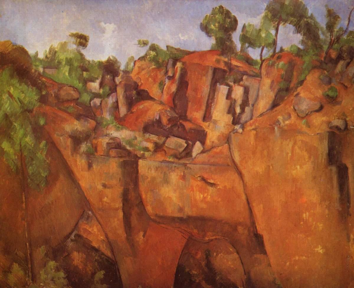 """""""Bibemus Quarry"""" (1898-1900) by Paul Czanne [Public domain]"""