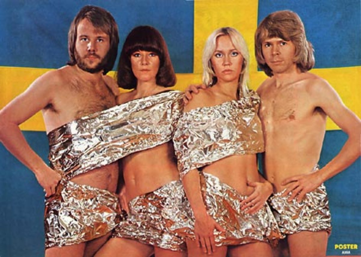 Abba Dressed Only in Small Quantity of Aluminium Baking Foil - Disturbing and Weird.