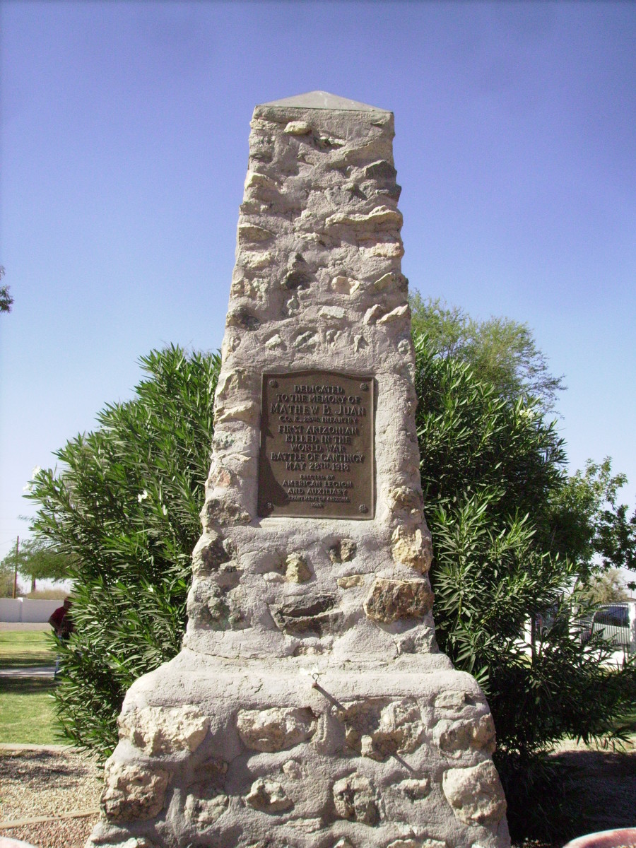 Mathew B. Juan Monument in Sacaton, Arizona