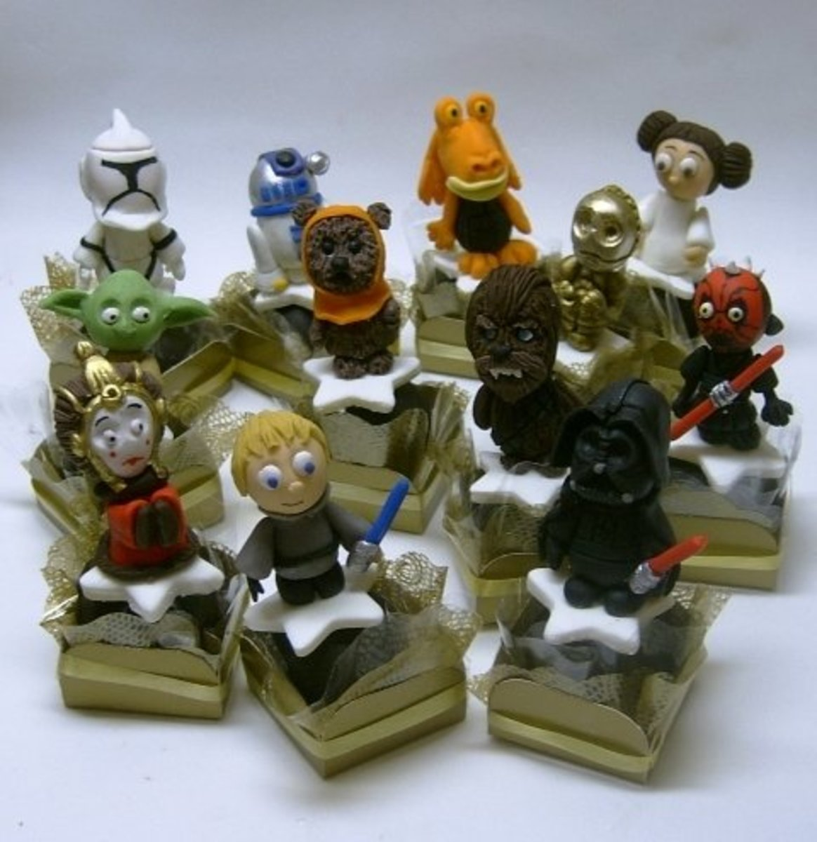 Star Wars Party truffles - all edible chocolate + fondant by Ana Fuji, All Rights Reserved.