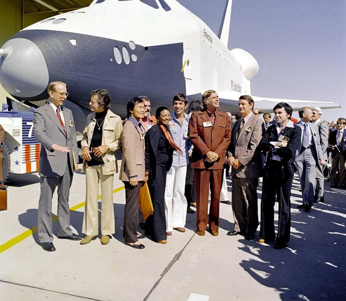 Star Trek (R) and the Shuttle Enterprise (public domain).