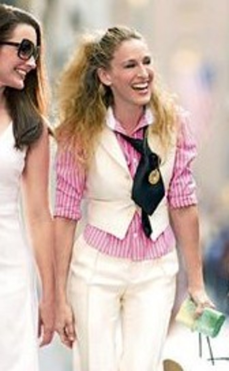 Sarah Jessica Parker stars as Carrie Bradshaw in 'Sex and The City' in retro-inspired fashions