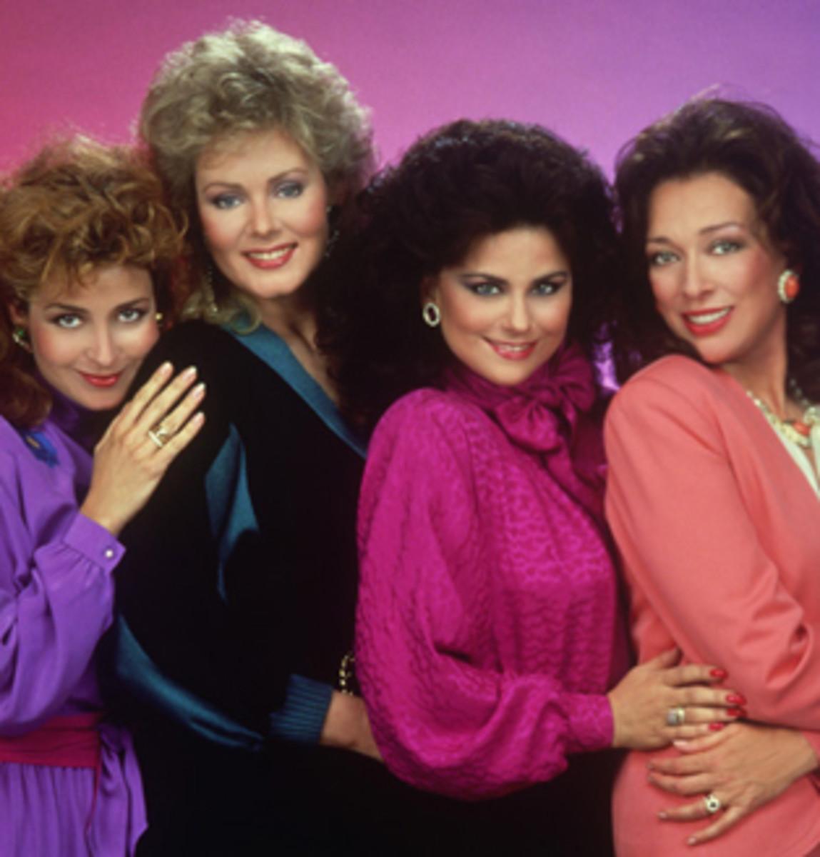 Popular 1980s TV show, 'Designing Women' displays 80s color trends
