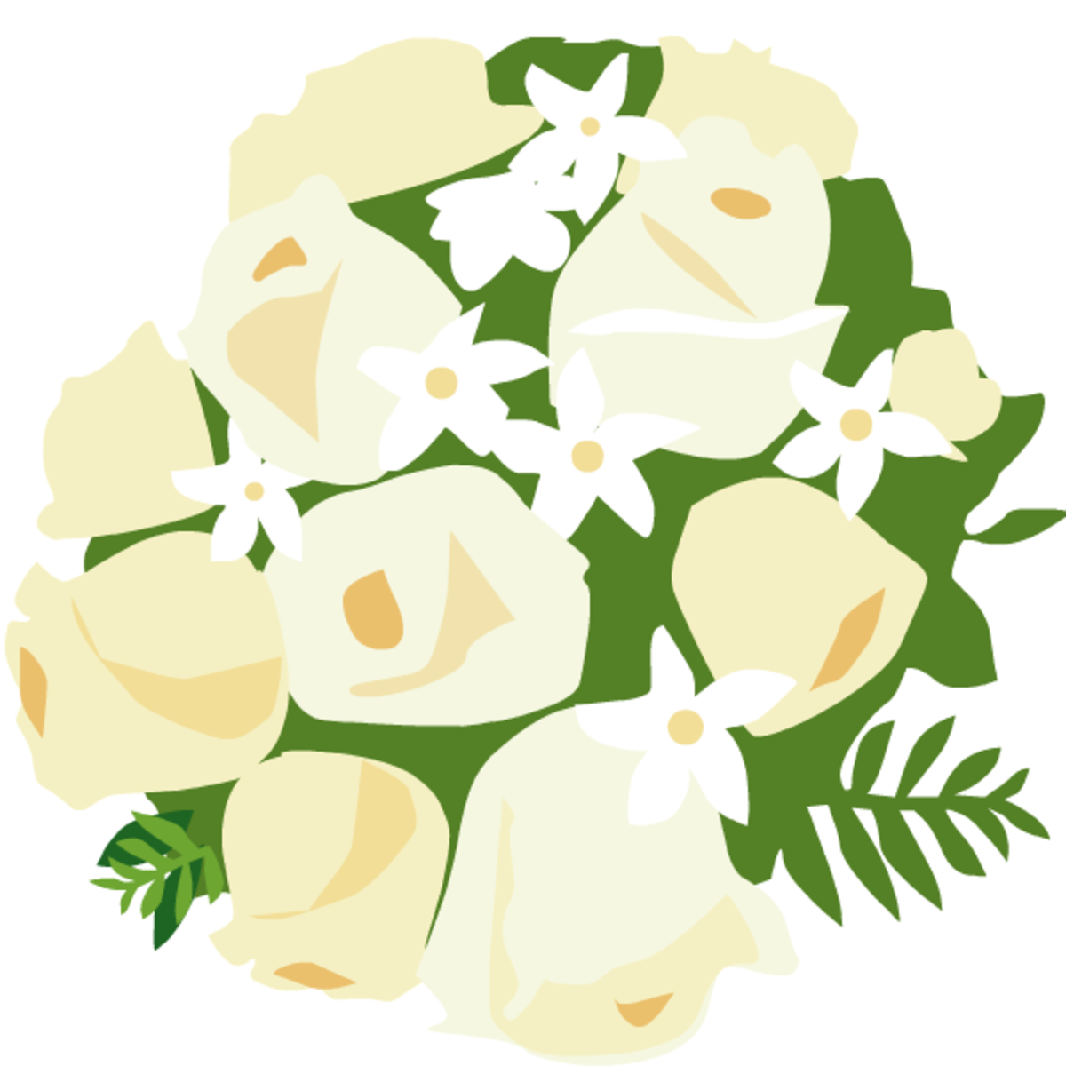 wedding clip art: bouquet