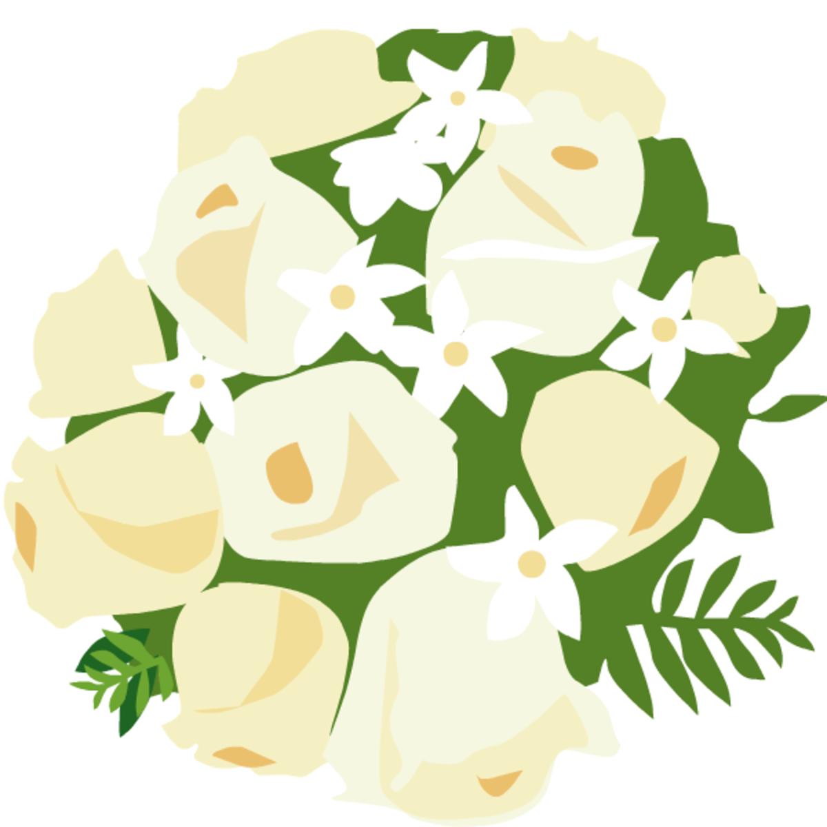 wedding clip art: bouquet