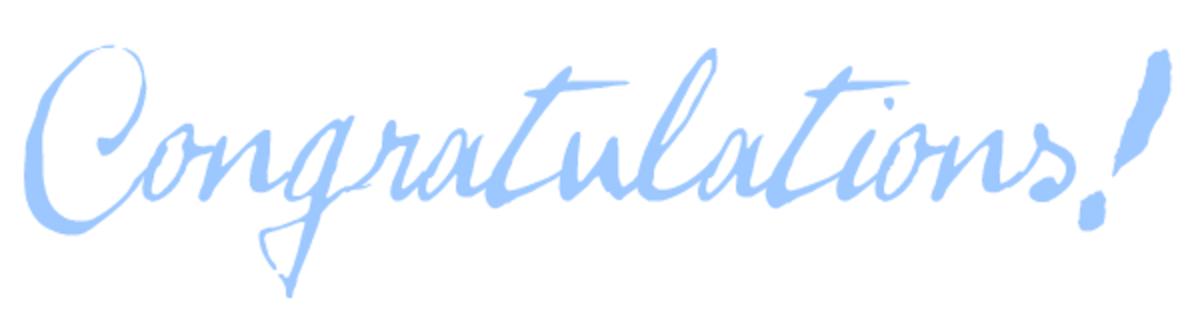 Congratulations blue clip art