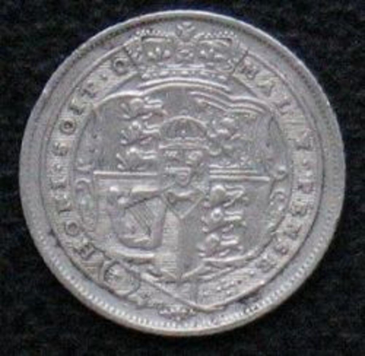 Silver Sixpence for Christmas Pudding