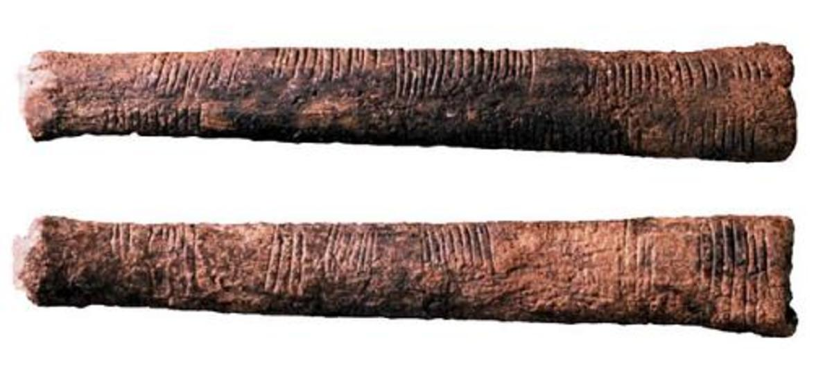 The Ishango Bone discovered in 1960 in Zaire