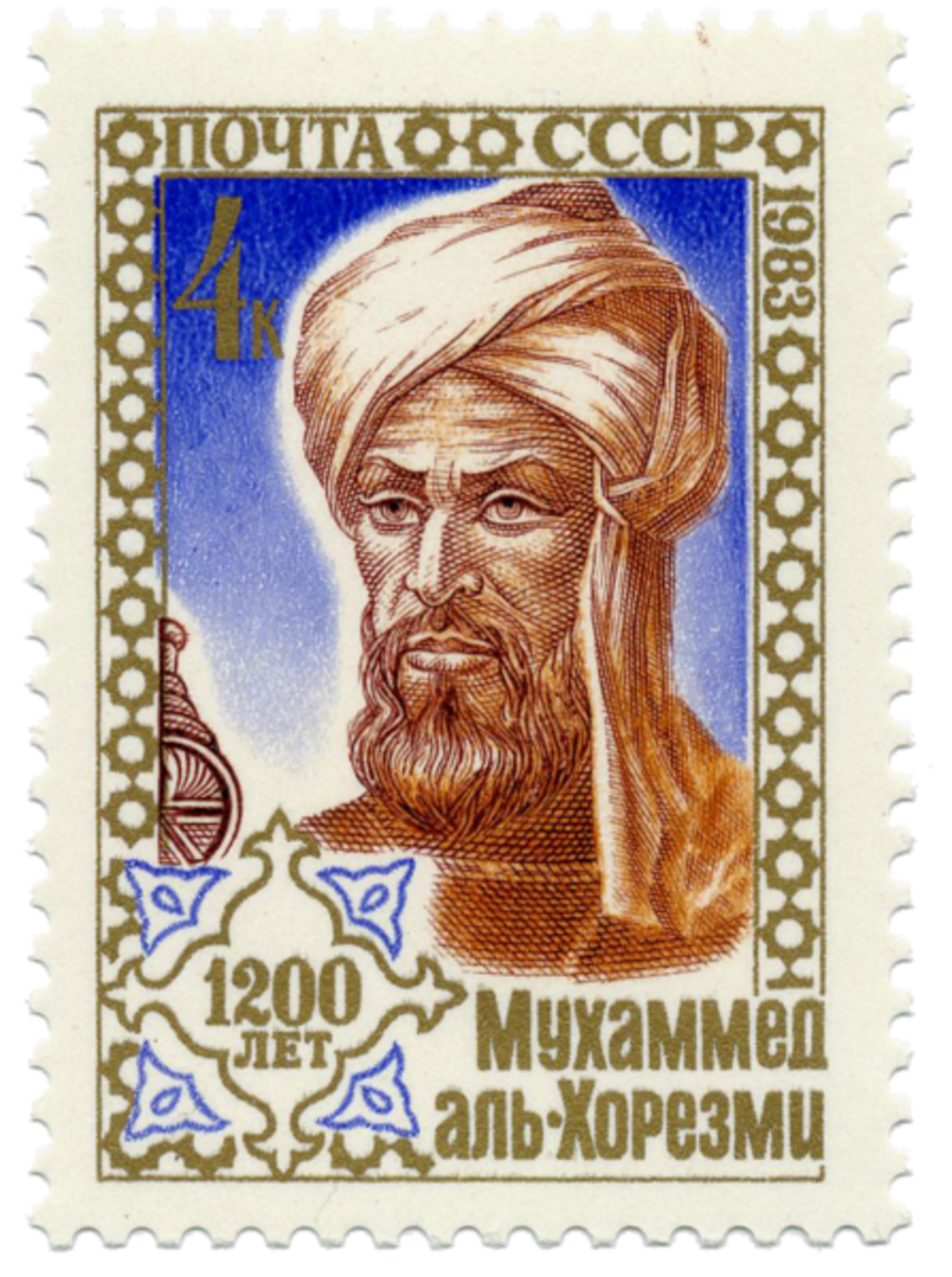 Al-Khwarizmi on a Soviet Union stamp issued on September 6, 1983