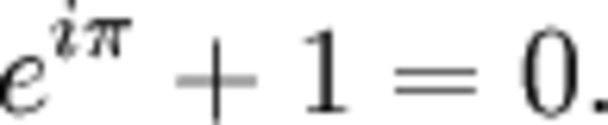 Euler's Identity: One of the most famous equations of all time.
