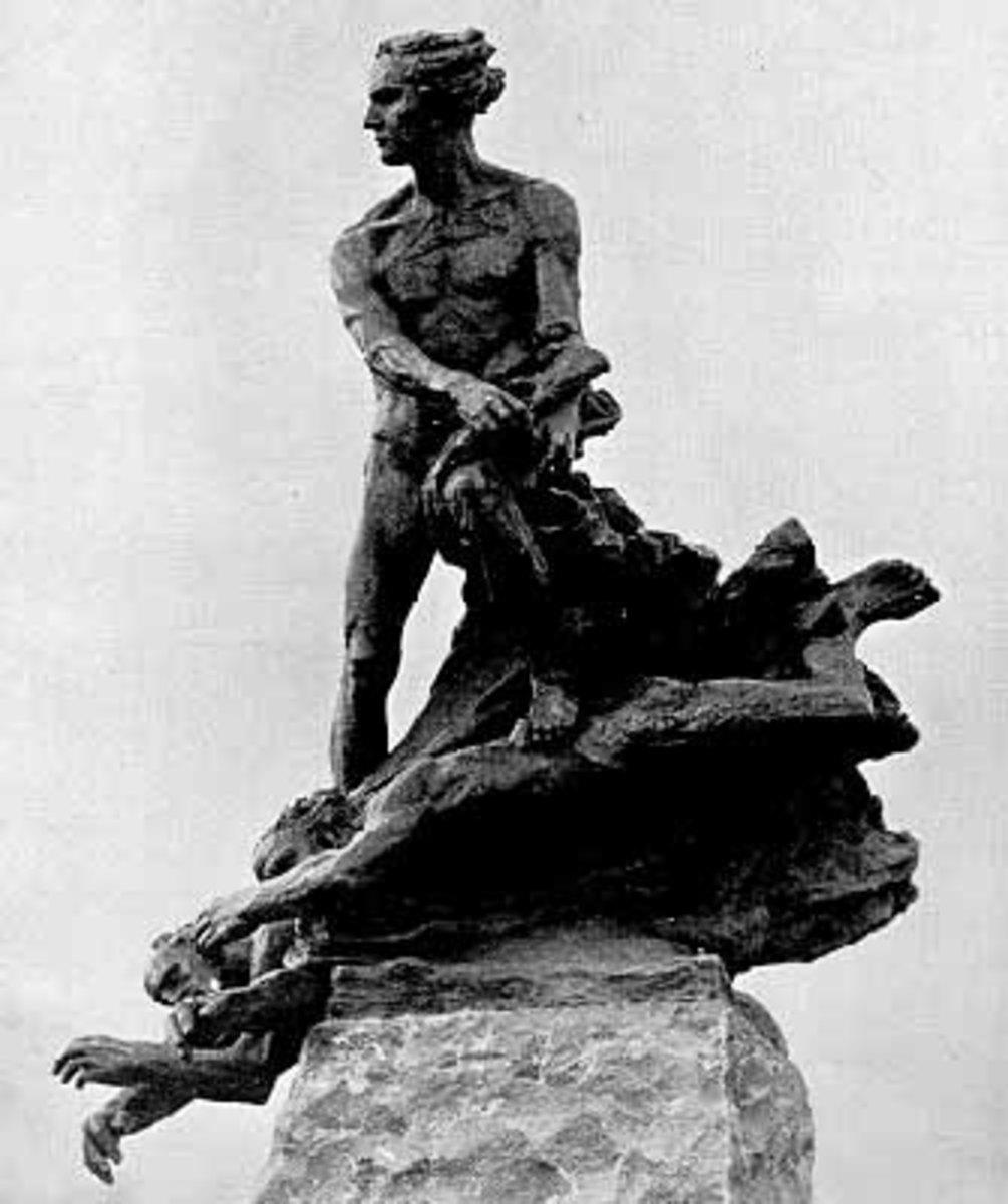 A statue of Niels Abel in Oslo, Norway