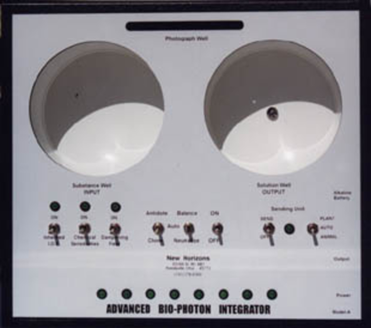 Radionics/Homeopathy device
