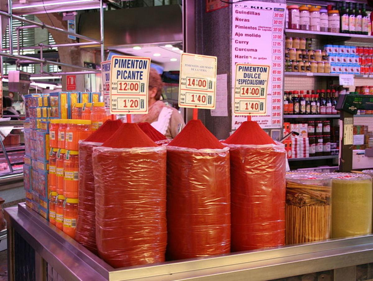 Spices at a Valencia Market