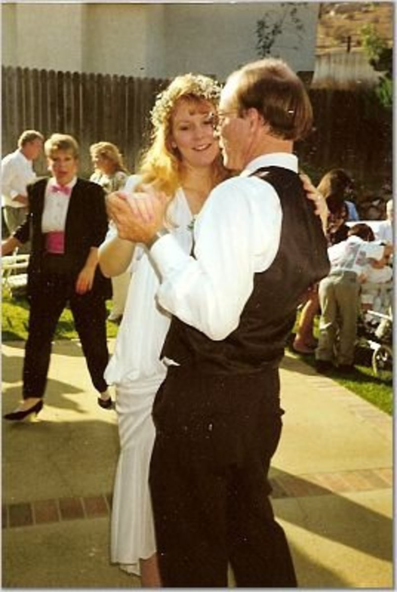 Dancing with my dad at my wedding