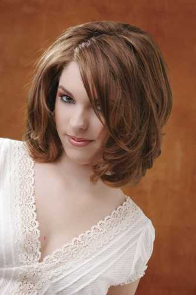 medium length sedu haircuts for women on brown hair