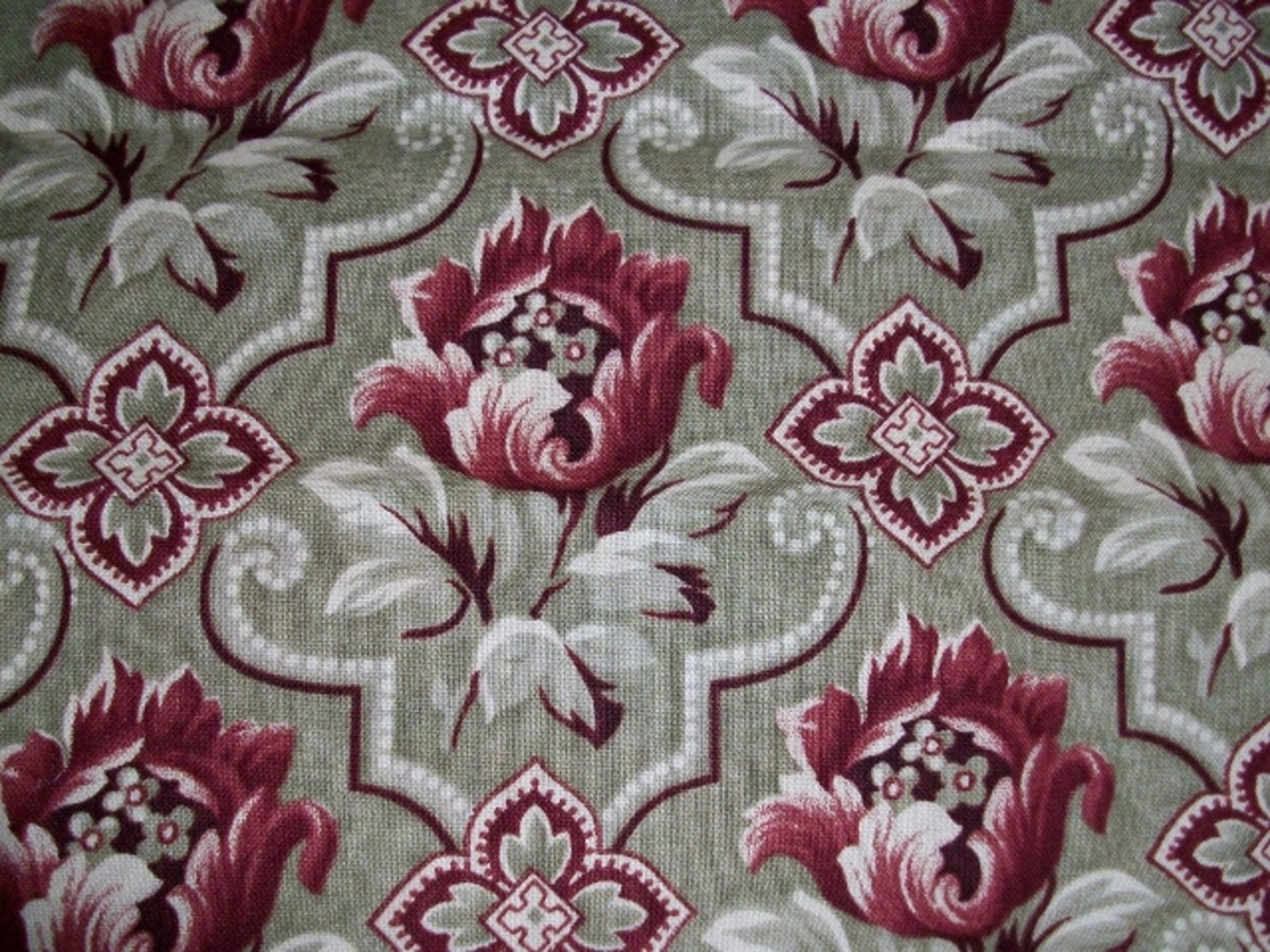 Gray and Red Fabric