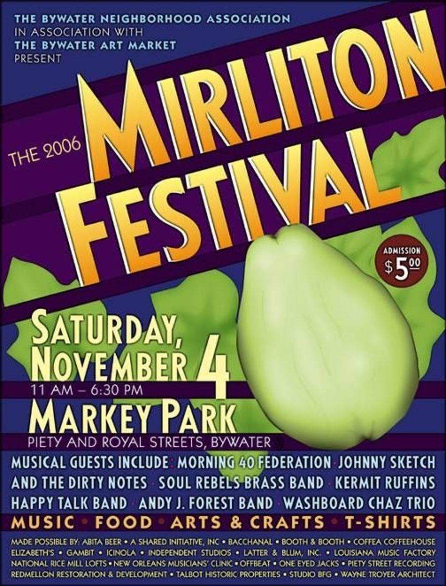 Mirliton Festival Poster