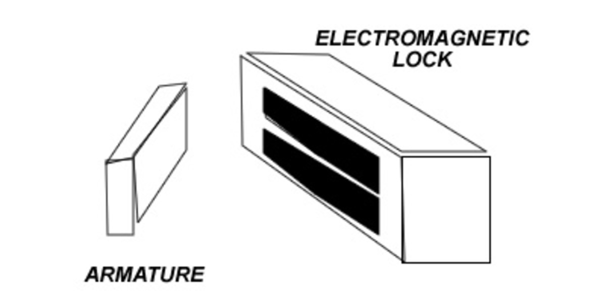 Basic Mag ic Lock System on access control door drawing