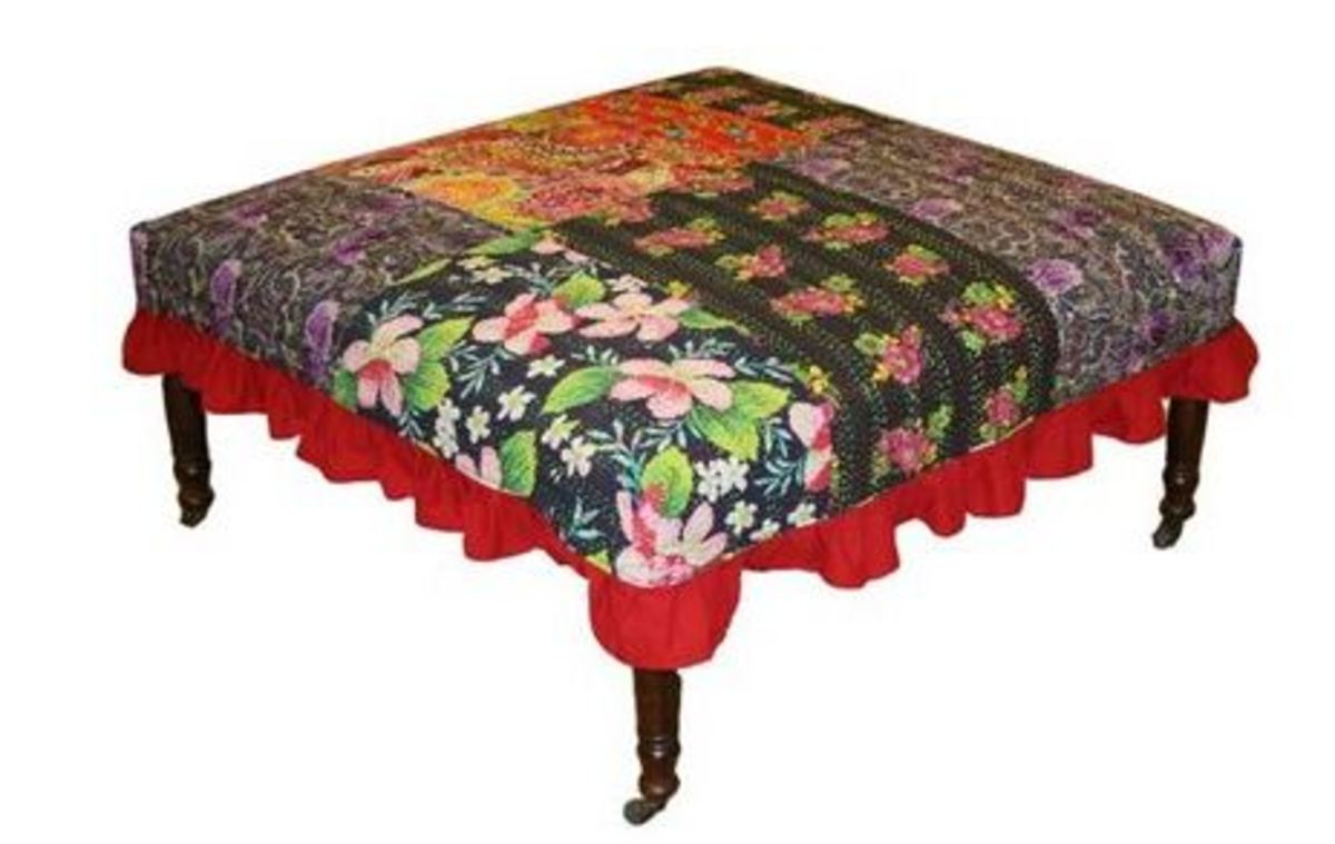 Quilt Looking Footstool
