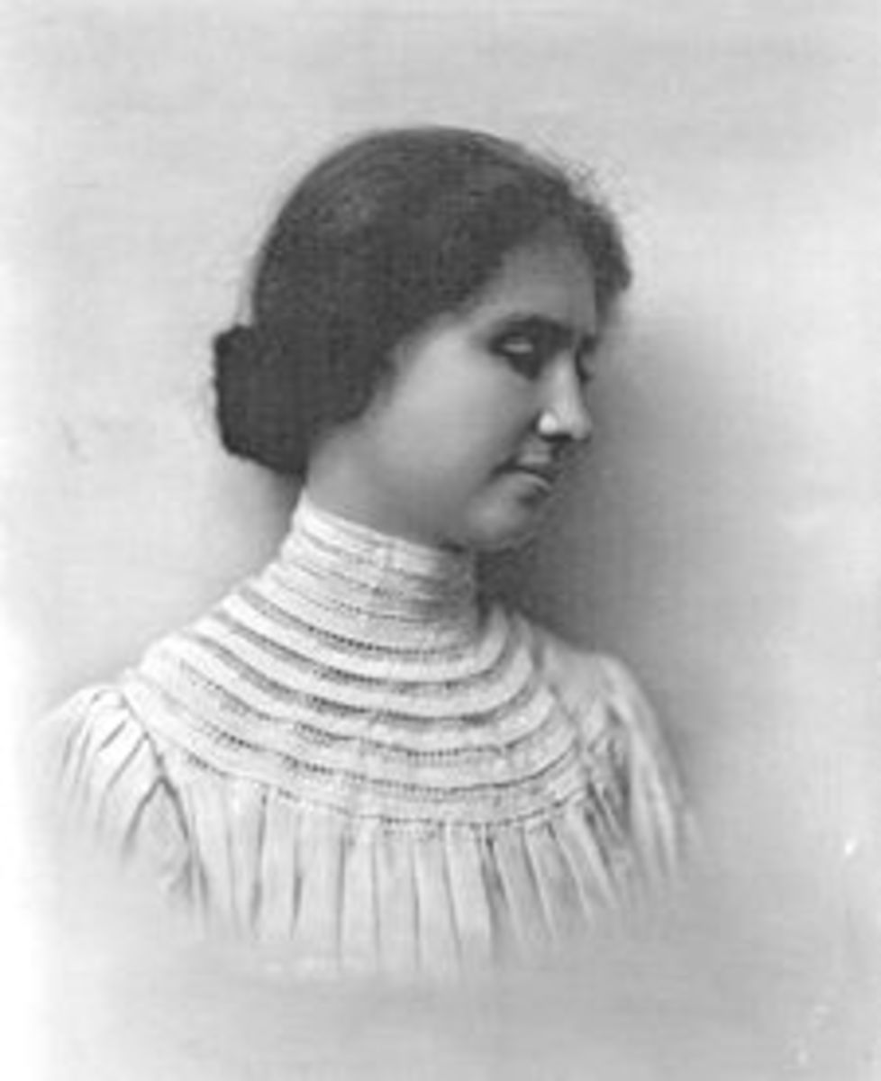 Helen Keller's unenculturated behavior as a small child was due to an almost complete absence of socialization, due to lack of sensory input  Photo Credit: The Wikipedia