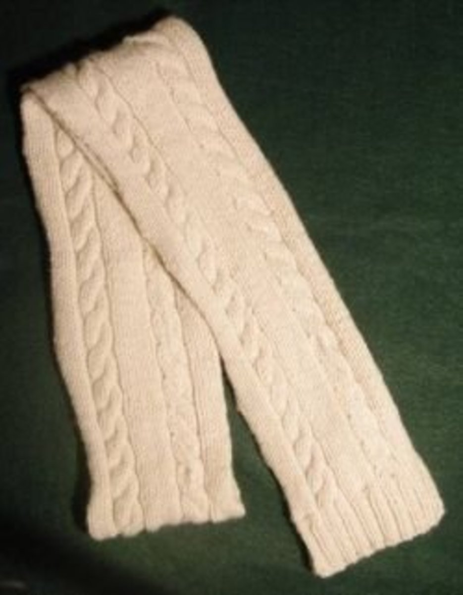 Free Cable Knit scarf pattern