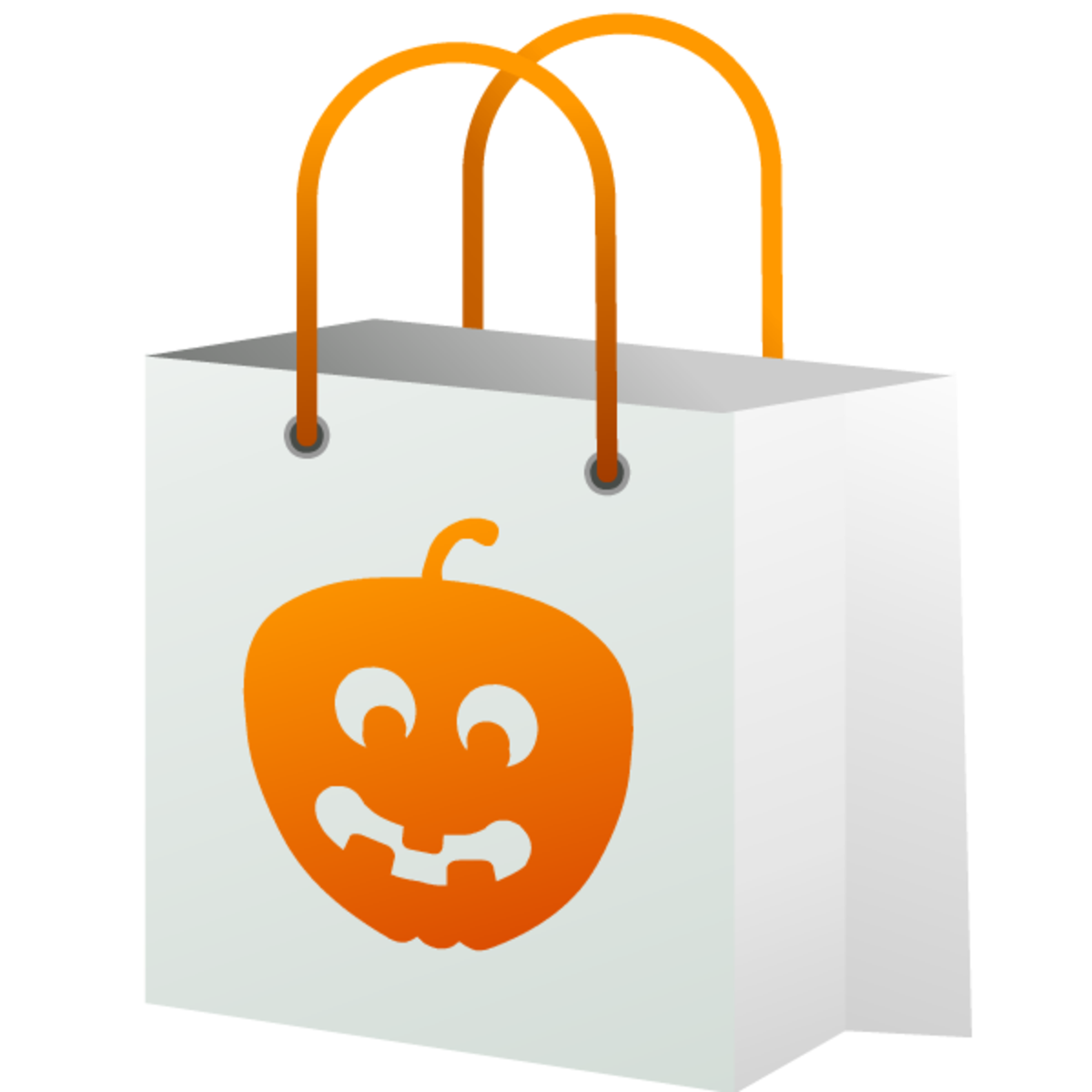 Halloween trick-or-treat bag with pumpkin image
