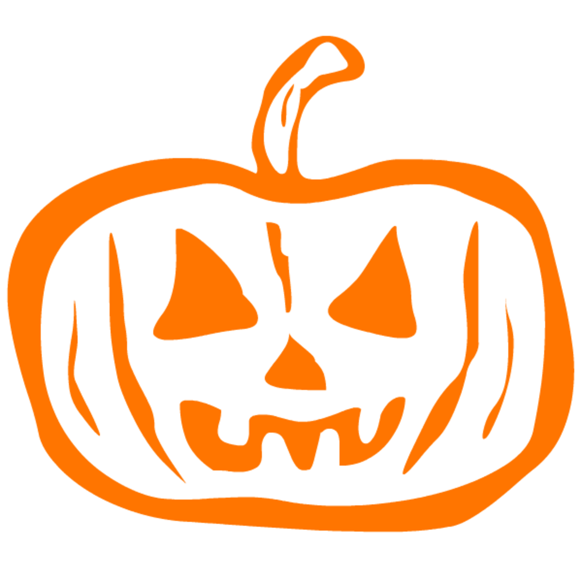 Mean orange pumpkin clip art