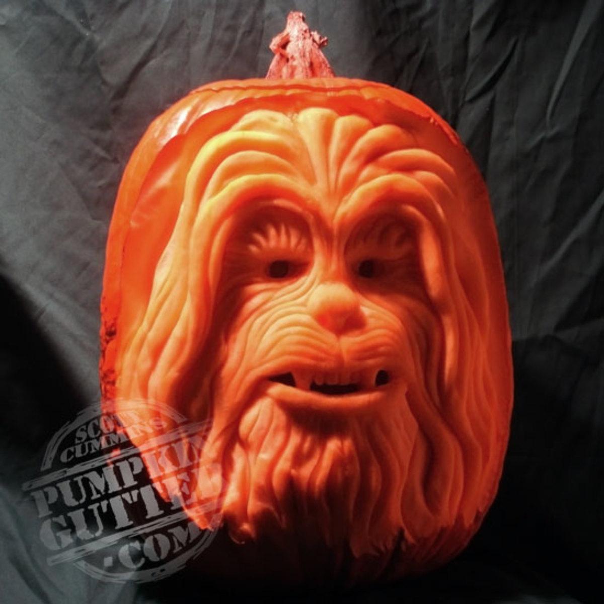 Chewbacca pumpkin, Star Wars