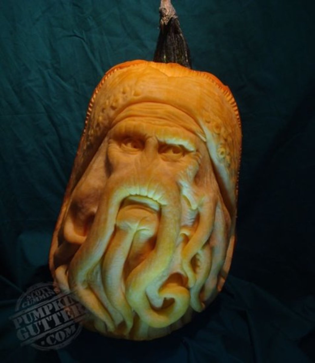 Davy Jones pumpkin, Pirates of the Caribbean