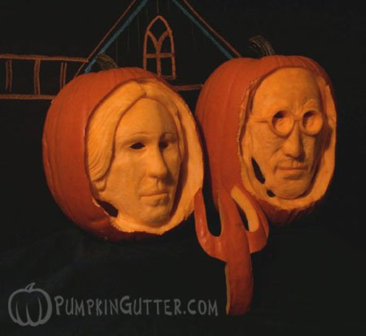 American Gothic pumpkin