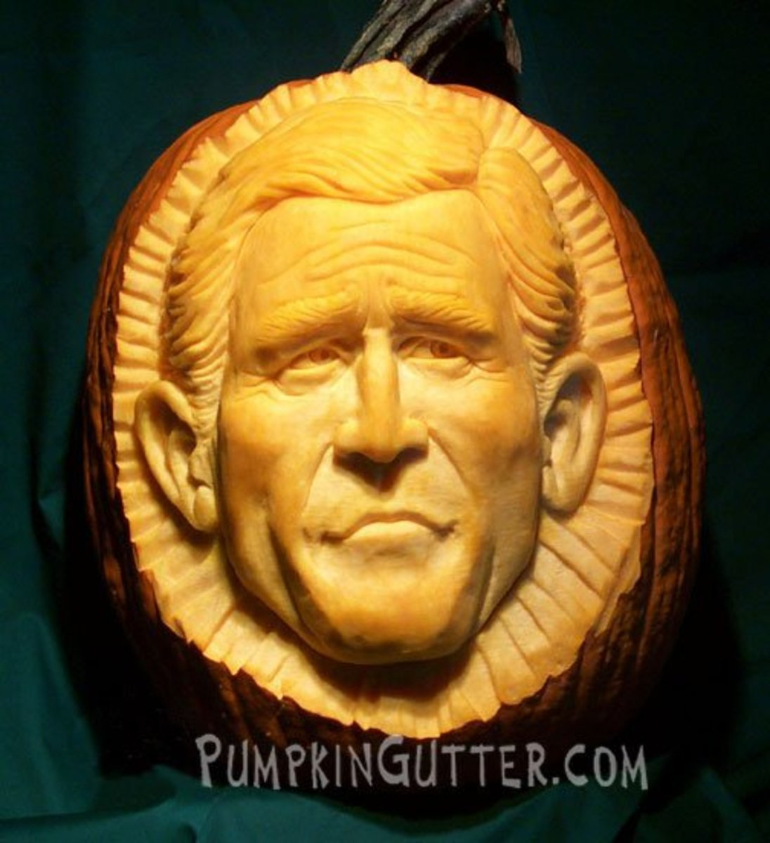 George W. Bush pumpkin