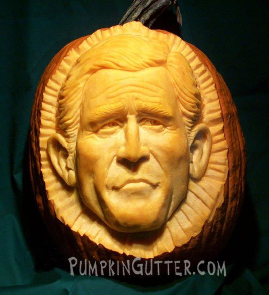 George W. Bush pumpkin