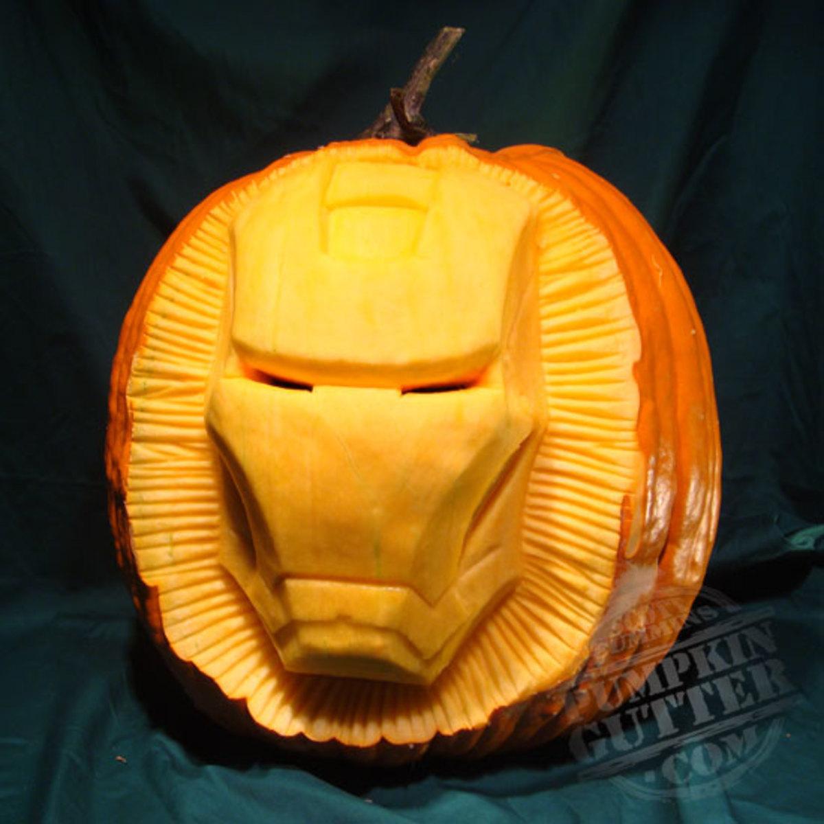 Iron Man pumpkin