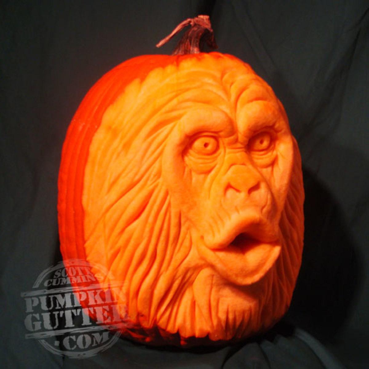 Chimp pumpkin, Planet of the Apes?,