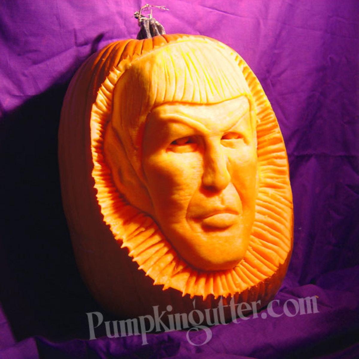 Captain Spock pumpkin, Star Trek