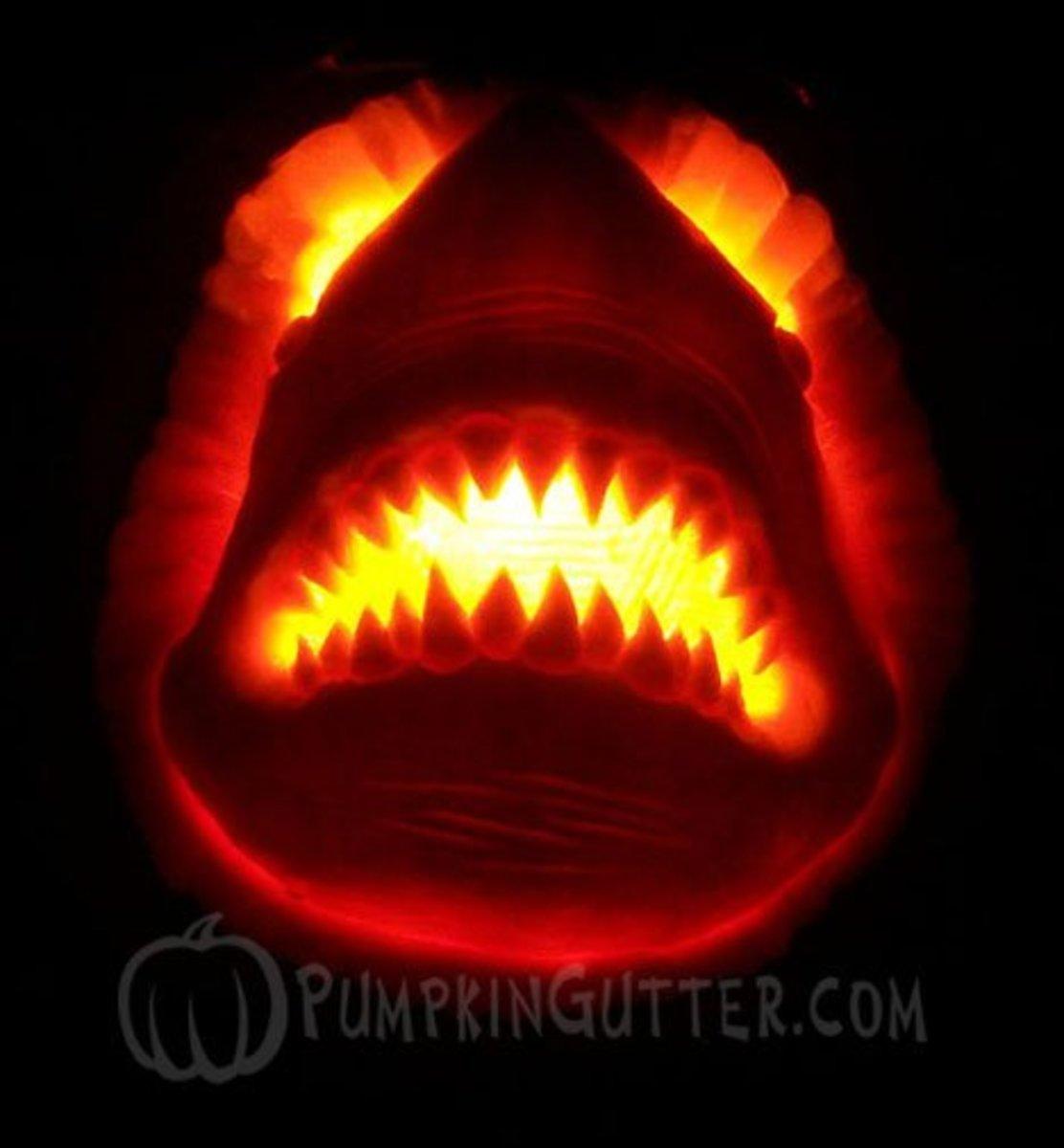 Jaws shark pumpkin