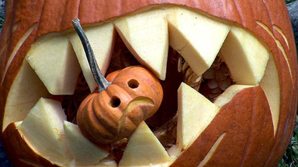 Pumpkin teeth, made by Karen Quinn