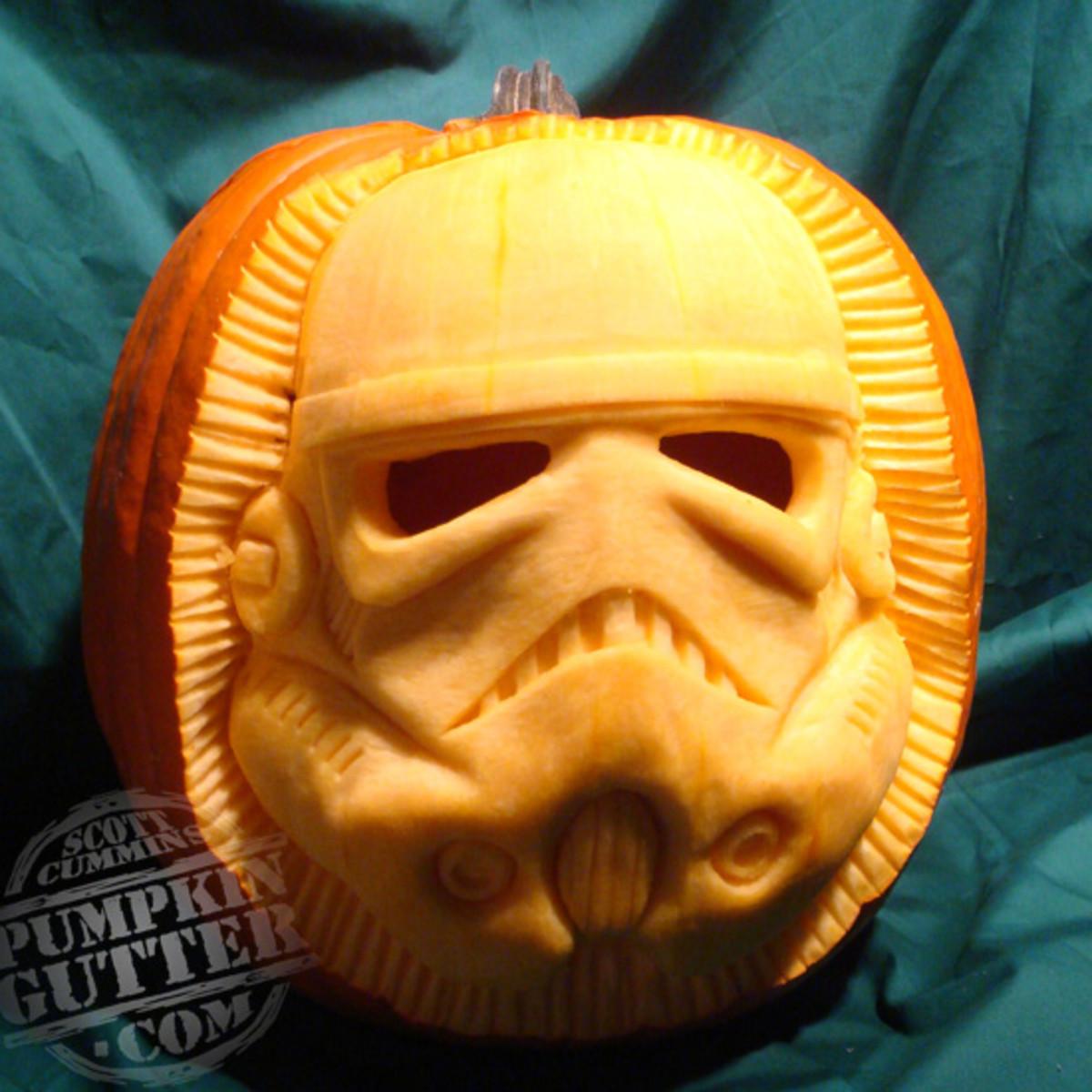 Storm Trooper pumpkin, Star Wars